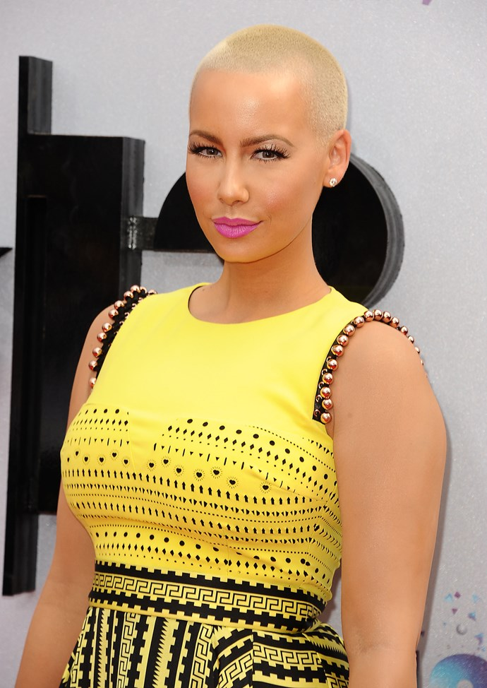 **Amber Rose:** Kanye's ex accused the now-engaged couple of cheating on their respective partners (Kim was dating NFL player Reggie Bush at the time), saying Kim sent pictures of herself to Kanye. While none of it's been confirmed, Amber ended her rant on a lighter note, 'I want to thank her. Because if she was never a homewrecker, then I never would have met Wiz [Khalifa, rapper], and I wouldn't be as happy as I am now.' Err…OK.