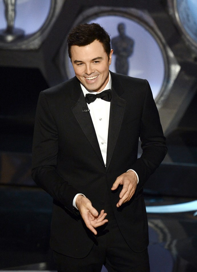 "**Seth MacFarlane:** The creator of *Family Guy* hosted the Oscars back in 2013, and made a pretty obvious dig at the TV family when talking about nominated film *Argo*, ""First time I saw him with all that dark facial hair I thought, my god, the Kardashians have finally made the jump to film."" Poor Kim has also been the victim of Seth's Twitter account on numerous occasions."