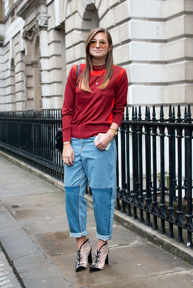 **Boyfriend *do*:** Loose-fitting jeans are made for the street-cool trend – go for a sporty top or sweatshirt, but make the look fancy with heels.