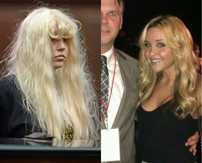 **Amanda Bynes:** Amanda's downward spiral began when she was ticketed for talking on her phone while driving in March 2012. Then she was arrested for drunk driving and two hit and run incidents. In May 2013, she was arrested for possession of marijuana after throwing a bong from her window (claiming it was a vase). Soon, she was involuntarily committed to a psych ward, diagnosed with schizophrenia and spent six months in rehab. Although she's retired from acting, she's enrolled at the Fashion Insititute of Design and Merchandising in LA (and is reportedly an ace at it).