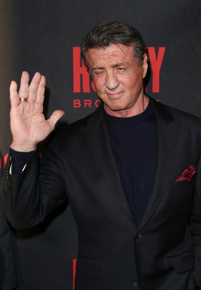 When sleeping on the streets of NYC, Sylvester Stallone took up an offer to star in soft-core porn film titled *The Party at Kitty and Stud's*.