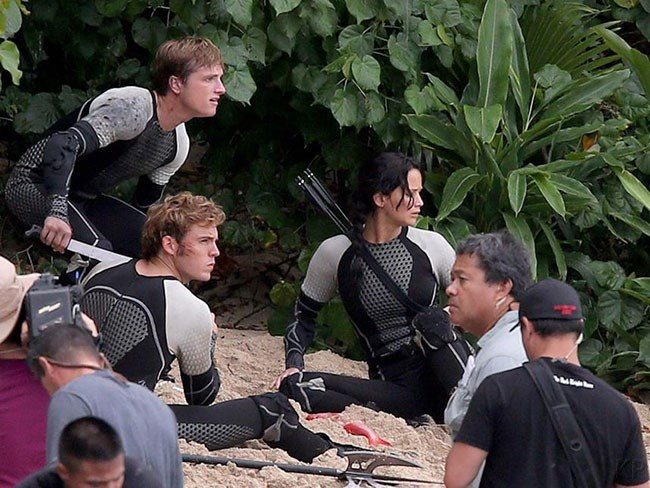 """*The Hunger Games Catching Fire*: From all the action happening on screen, you'd never guess those epic ocean battle scenes were actually mere metres from the stunning [Turtle Bay Resort](http://turtlebayresort.com/