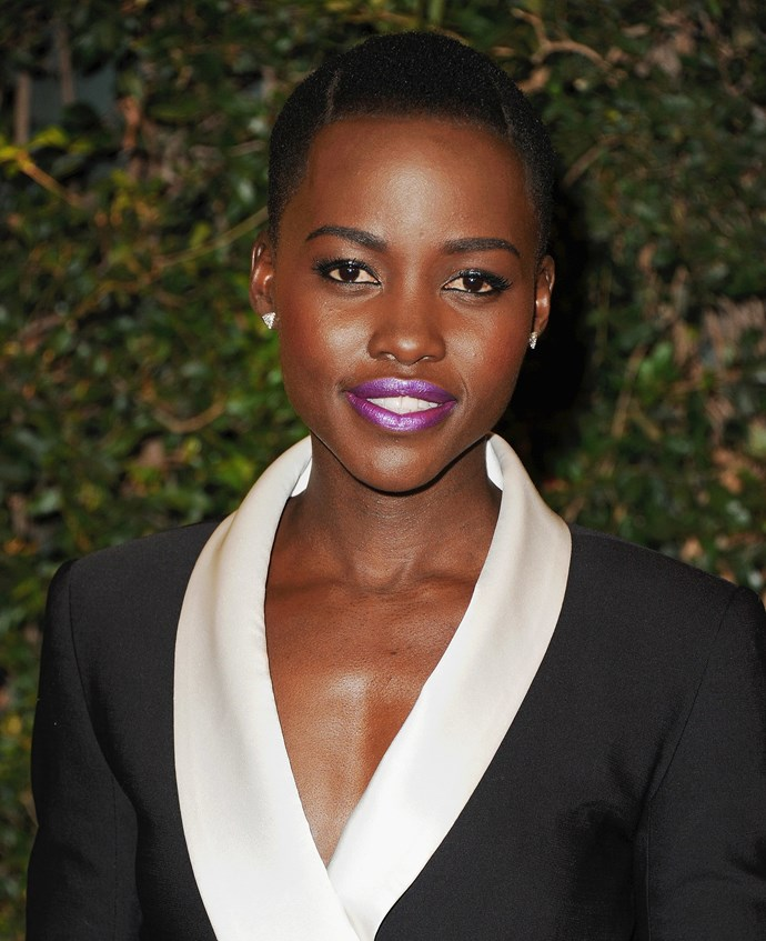 To stand out from any crowd, try a neon, metallic shade like Lupita's awesome purple.