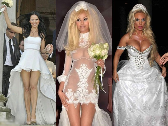 The most revealing wedding dresses