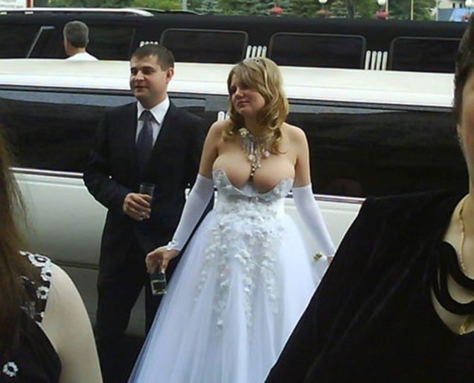 This Russian bride went viral when her wedding dress picture hit the web. You can see why...
