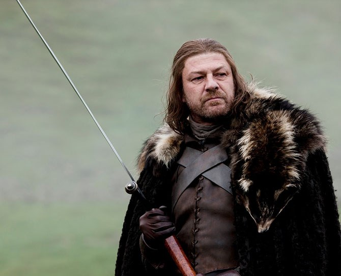 **15. Ned Stark** – Good Dad, loyal husband (except for that one time) and brave warrior. Also, dead.