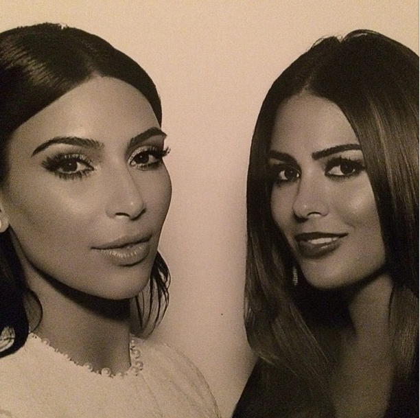 Posted by: *Kim & Kourtney Take New York* producer Carla DiBello The duo bask in the ultra-flattering light of the photobooth (seriously, is that thing equipped with PhotoShop?!)