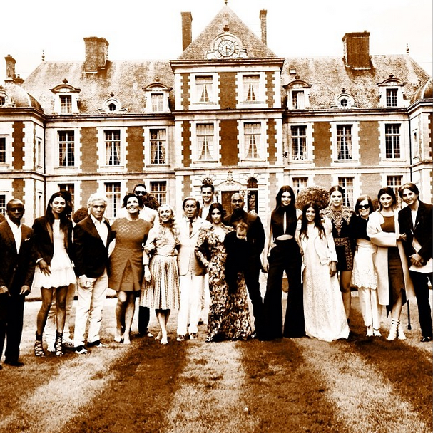 Posted by: Franca Sozzani The editor-in-chief of *Vogue Italia* posted a group shot from the pre-wedding lunch hosted by Valentino.