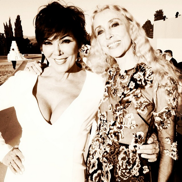 Posted by: Franca Sozzani The editor poses with family matriach Kris Jenner.