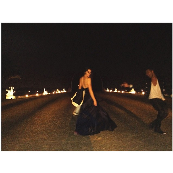 Posted by: Kendall Jenner Kendall, just playing in the epic gardens of Versailles with Balmain designer Olivier Rousteing. You know...