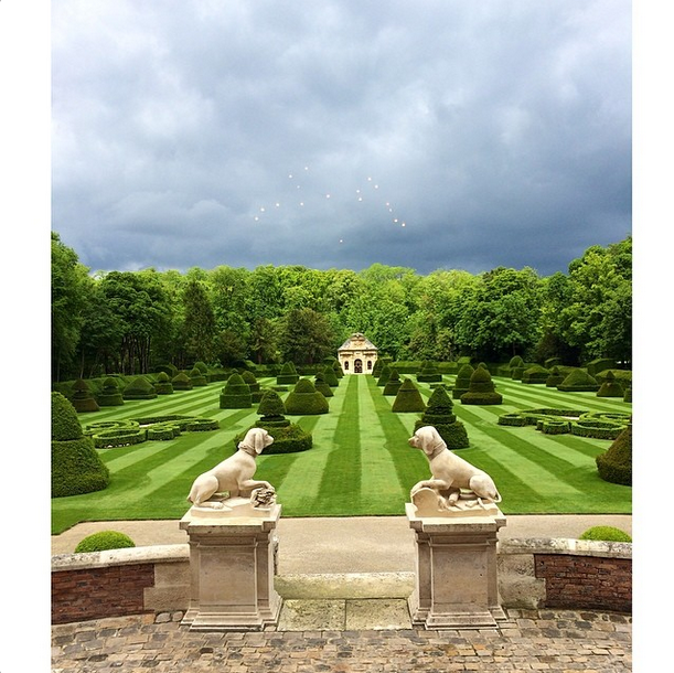 Posted by: Kim Kardashian West The newlyweds have some serious garden inspo to take back to the home they're building in LA, like Valentino's well-manicured lawns.