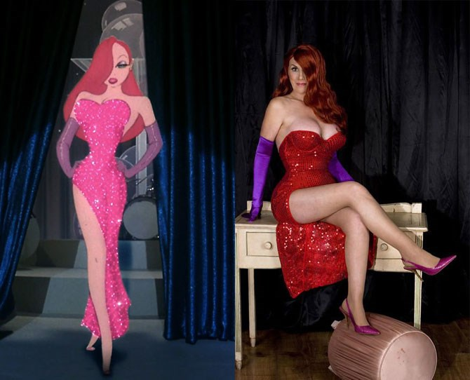 Annette Edwards is a 57-year-old great-grandmother with a Jessica Rabbit obsession. The British woman has spent almost $16,000 on chin implants, cheek implants and a boob lift in pursuit of her goal… to look like the cartoon character.