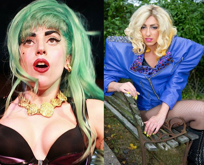 """Donna Marie Trego has kind of a legitimate reason for spending over $100,000 on cosmetic surgery… she's a Lady Gaga impersonator. """"There's a lot of Gaga lookalikes and it's really competitive,"""" Trego admits."""