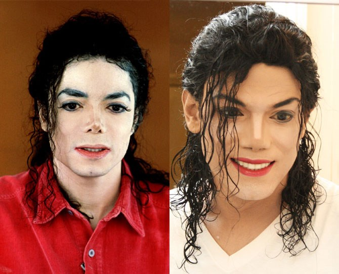 """The world's number one Michael Jackson impersonator, Navi, has had """"numerous"""" surgeries to get his face *juuuust* right, """"They say the things that look most Michael about me are my eyes and smile."""""""