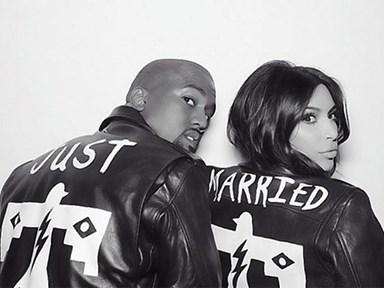 Kim and Kanye's cringey wedding kiss