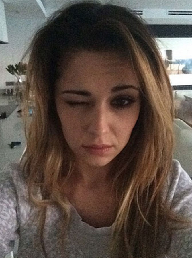 Proof that even gorgeous celebrities like Cheryl Cole struggle after a big night out.
