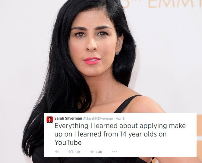 **Sarah Silverman:**Comedian Sarah tweets what we're all thinking.