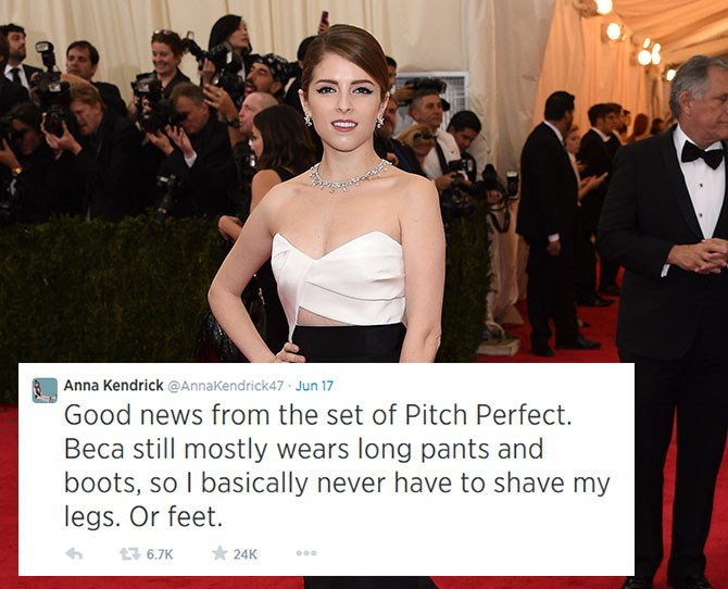 **Anna Kendrick:**Currently filming the sequel to*Pitch Perfect*, Anna reminds us why we wish she was our bestie.