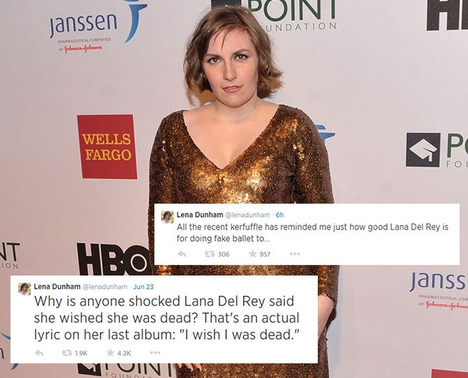 **Lena Dunham:**The*Girls*creator and star has us in stitches on a regular basis.