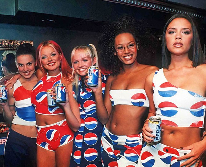 Off the back of their huge success, the group's manager Simon Fuller began organising million pound sponsorship deals for them. Their Pepsi collaboration saw the Spice Girls released an accompanying single (and wear a lot of Pepsi-branded merch).