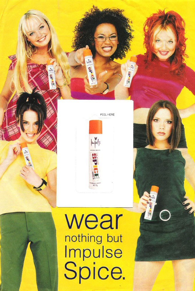 …and pretty much every tween girl had at least one can of their Impulse spray.