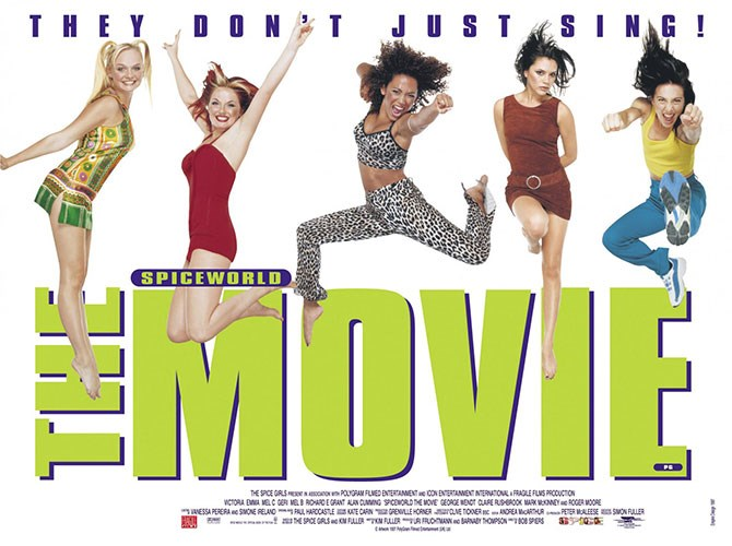 Announced at Cannes Film Festival in May, and released in December 1997, *Spiceworld: The Movie* broke the record for the highest-ever weekend debut for Super Bowl Weekend (25 January 1998) in the US, with box office sales of over $10 million. It ended up taking in $77 million worldwide at the box office… $100 million if you included VHS sales.