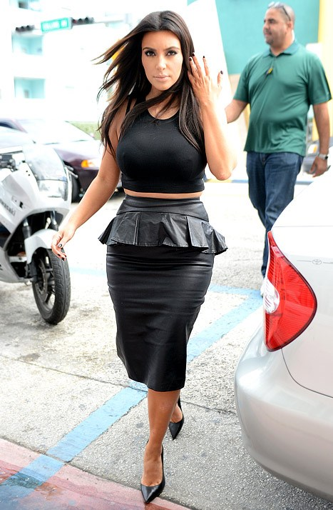 When she was giving the paps hell (for leather).