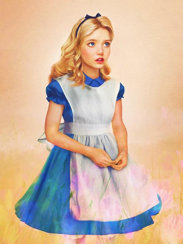 Alice, no longer in Wonderland.