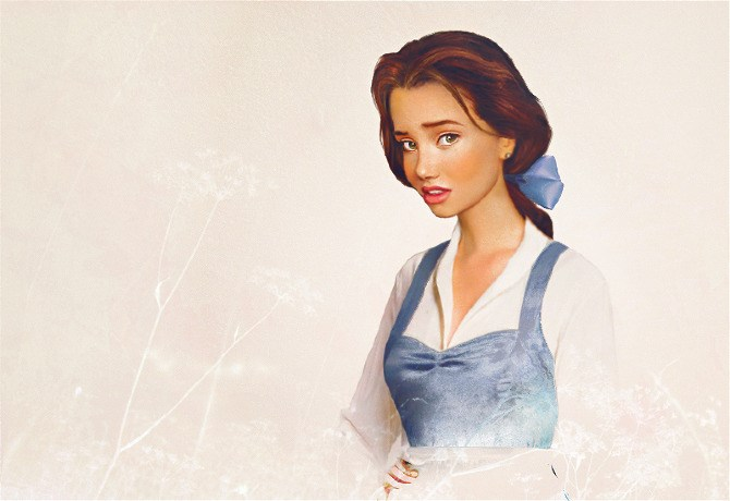 Belle would fit in with today's street style set with those layering skills and her quirky hair bow.