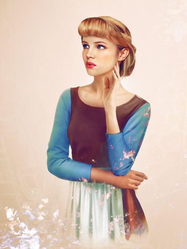 Cinderella, wondering how her fringe got so voluminous.