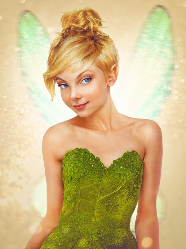 Tinkerbell, with the kind of elfen features we're *all* jealous of.