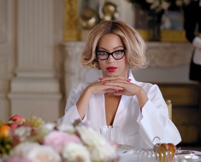 That time she got all 'sexy secretary' in her music video *Partition* and the look in her eyes literally scared the pants off us (and probably every guy who watched it too).