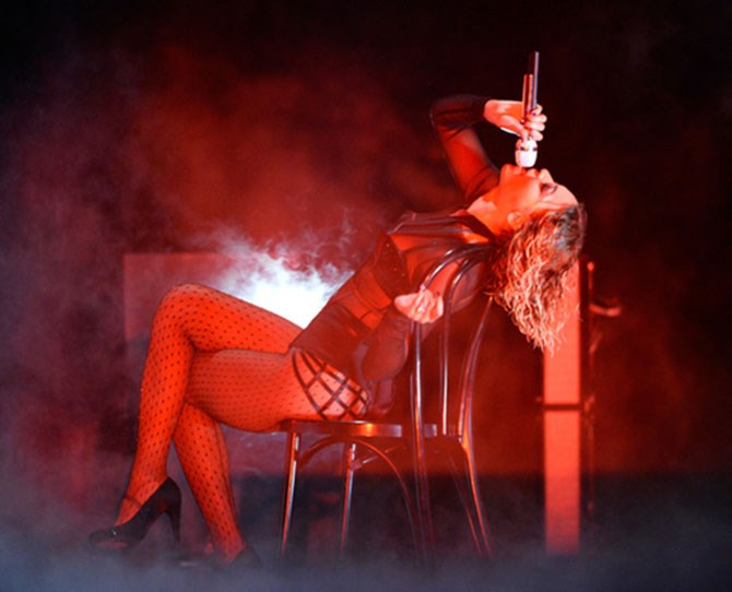 That time she did the *Flashdance*, and managed to make it even sexier.