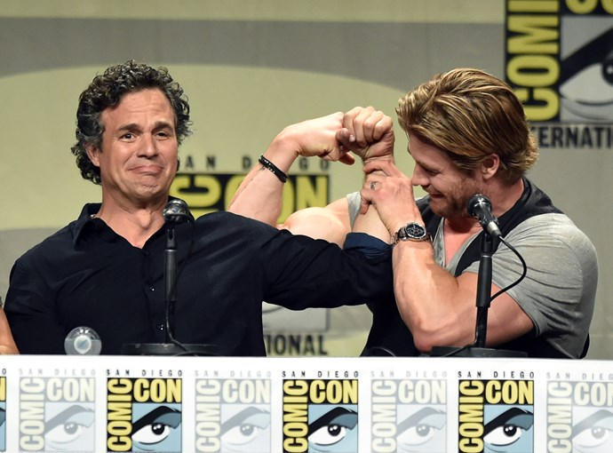 When they looked at Mark Ruffalo's biceps and were like, LOL *please*.