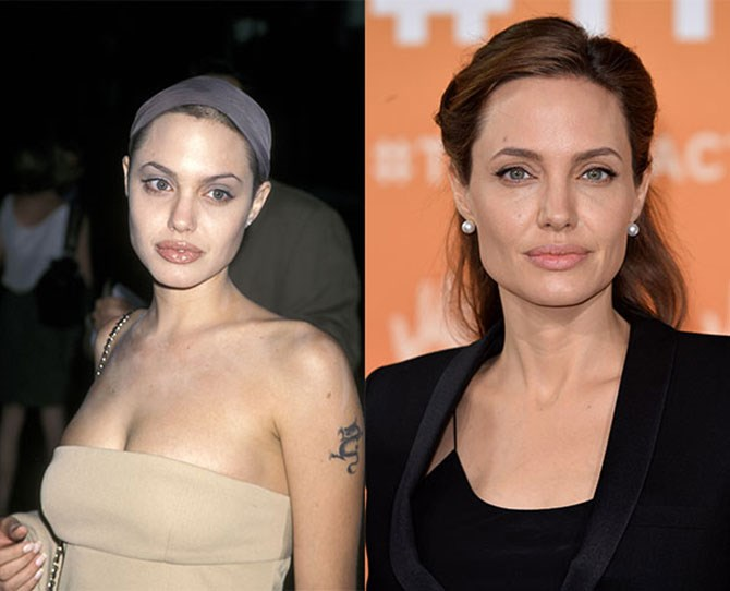 Luckily Angelina Jolie's glossy pout distracted us from those sky-high peaks the first time around. A visit from the hair growth fairy (she exists), and some trusty powder, mean her brows are now a focal point.