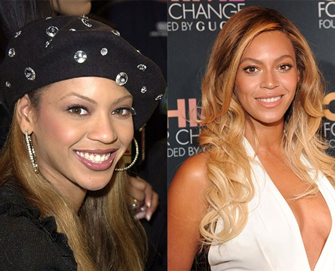 Bey's brows were sharp and blunt (we could almost snap the twigs in half), unlike her famous curves. But now these full and flowing golden arches match her smooth persona. Foxy.