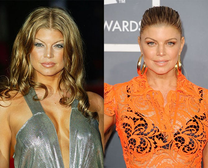 Fergie's brows are naturally high set, but greater fullness has made a world of difference. The trick? Feathering pencil through your brows to mimic your natural hair growth.