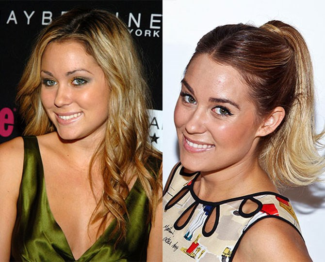 We're obsessed with all hair decisions LC makes, and her eyebrow evolution is no exception.