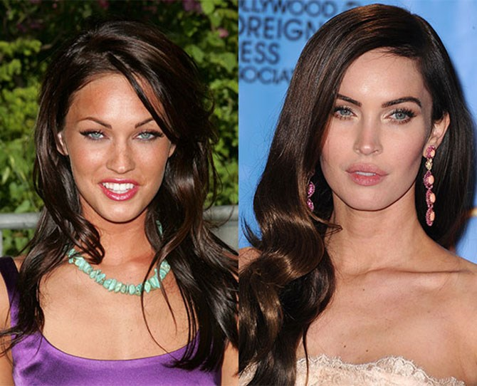 Thankfully Megan Fox's brows are not a shadow of their former selves; otherwise there wouldn't be anything left. Her modern, sexy, wet look is achievable with some brow powder, wax or gel.