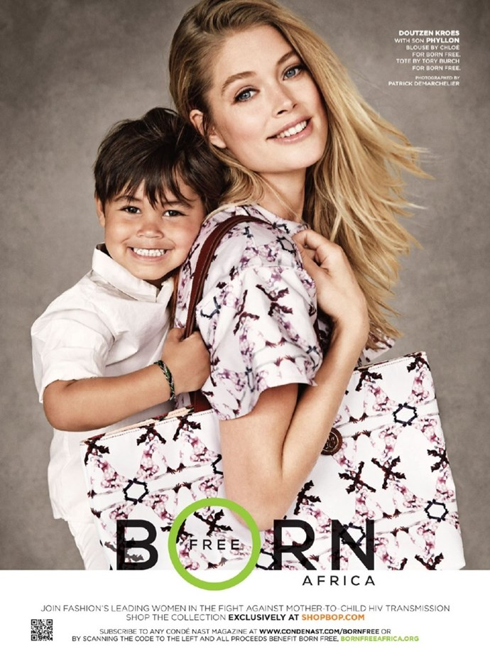 Plus, he's already made his modelling debut alongside his mum, for Born Free at Shopbop.