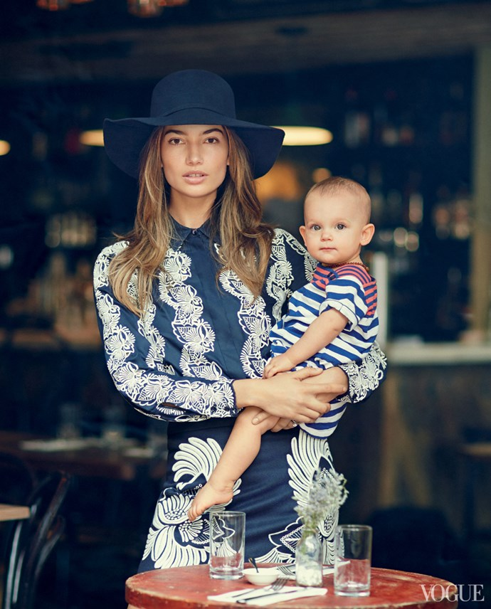 Lily Aldridge and rocker husband Caleb Followill's daughter Dixie was born in 2012, and has already made her debut in the pages of *Vogue*.