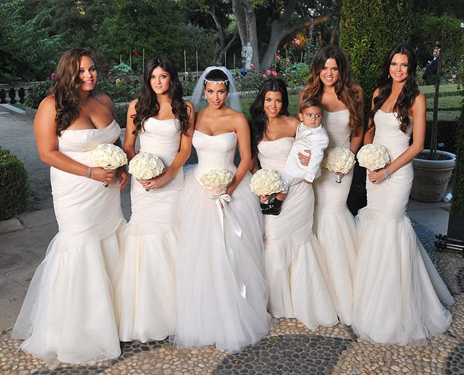 Khloe then returned the favour for Kim when she tied the knot with Kris Humphreys, only for it to end too. Oops. Maybe these girls have bad bridesmaid Karma?