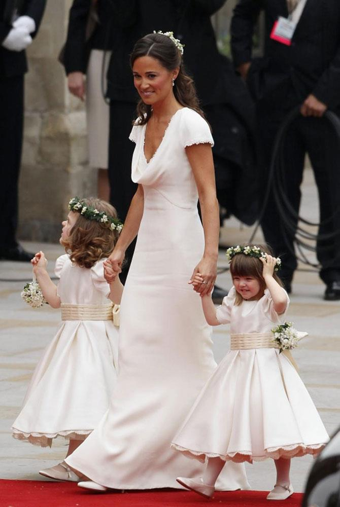 **Pippa Middleton** <br><br> Typically in the media's spotlight, Pippa Middleton got even more attention after she looked breathtaking in an ivory Alexander McQueen derriere-skimming gown for the royal wedding, of her sister Kate Middleton and Prince William.