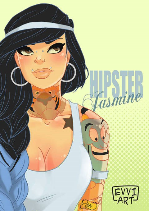 Or Jasmine, complete with a Kylie Jenner style dip-dye and face piercings.