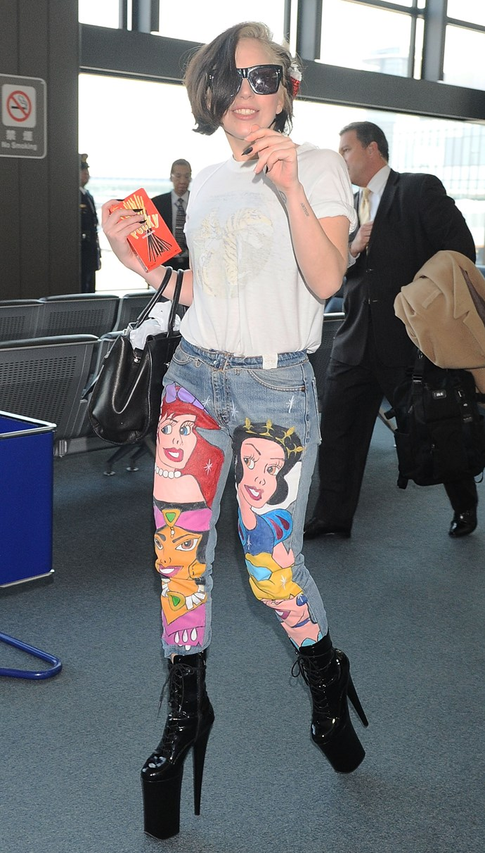 When she had Disney princesses on her jeans like it ain't no thang.