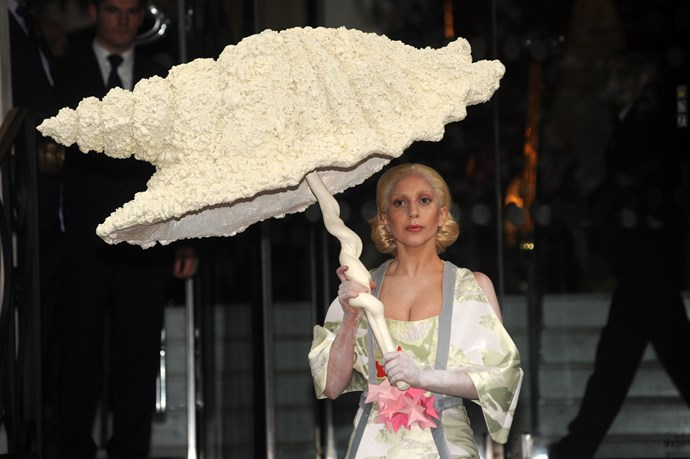 "When she was all like, ""What, this? It's just my shell umbrella."""