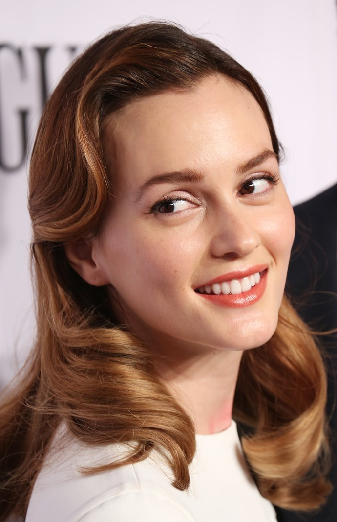 **Leighton Meester** With barely any makeup.
