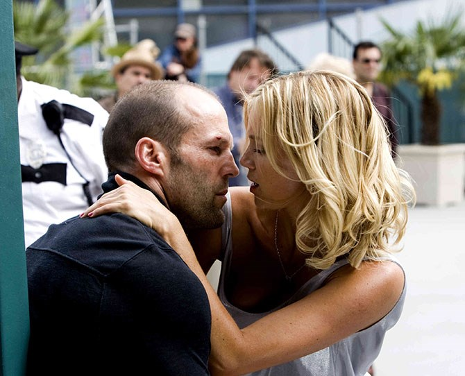 """Trying to do an aggressive sex scene is quite difficult. Especially in a public place with a crowd of screaming extras with their little camera phones going click-click, taking pictures of your pasty white ass. I've had my fair share of bedroom antics in films, but they were a little more private."" — [**Jason Stratham**](http://www.holymoly.com/news/jason-statham-talks-about-filming-sex-scene-public), on *Crank 2: High Voltage.*"