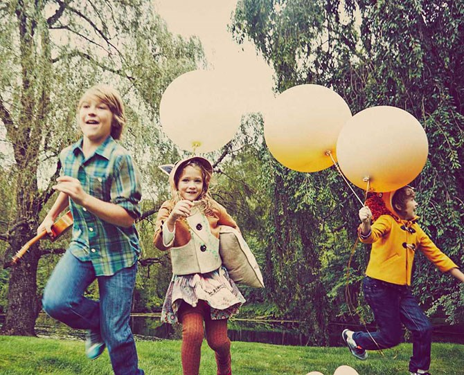 """Even the children were perfectly behaved, skipping around with joy in their amazing little outfits (which are available for purchase on the [site](http://www.preserve.us/blog/celebration/bringing-up-baby/