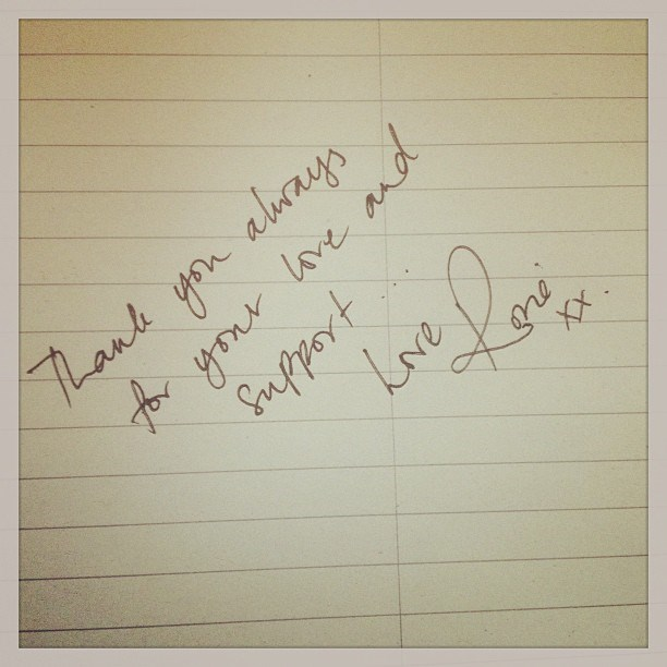 2. We'd always secretly hoped her handwriting looked like chicken scratch, but this is proof her penmanship is ace.